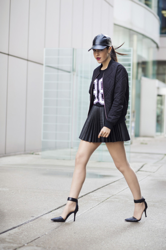 vanessa-leather-skater-skirt-alexander-wang-liya-heels
